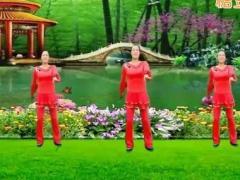 代玉广场舞《红歌四连跳-背面演示》红歌跳起来
