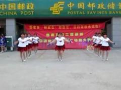 临港区大朱沙沟靓丽阳光舞蹈队【我和草原一起唱歌】