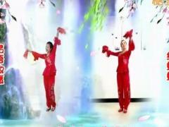 金社广场舞原创《中国情中国爱》异地姐妹合屏