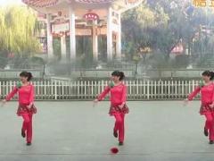 江西红舞鞋广场舞原创《老妹你真美》附背面演示