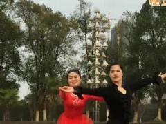 羽裳双人舞交谊舞《微风细雨》伦巴楚韵正背面教学