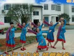 飞鲤镇 舞荷广场舞表演    这就是草原