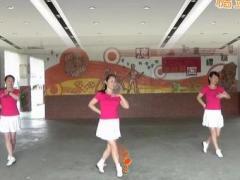 桃花森林广场舞《情路弯弯》DJ动感32步2017026